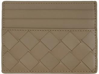 Bottega Veneta Taupe Intrecciato Card holder