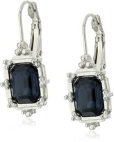 1928 Jewelry Gold-Tone Faceted Square Drop Earrings