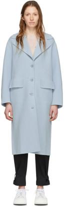 Proenza Schouler Blue White Label Double Face Long Coat