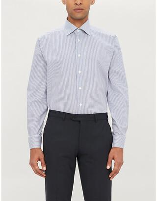 Eton Regular-fit striped cotton-twill shirt