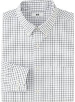 Uniqlo Men Extra Fine Cotton Broadcloth Checked Long Sleeve Shirt