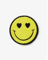 Express smiley face iron-on patch