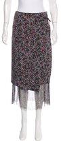 Dries Van Noten Silk Floral Print Skirt