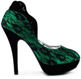 Show Story Glam Royal Flower Cut-out Heels For Women,LF30443GR41,10US