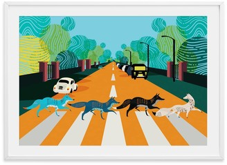 Eye For London Prints Abbey Road Foxes Illustrated Art Print Of London
