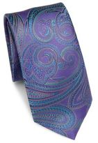 Saks Fifth Avenue COLLECTION Paisley Print Silk Tie