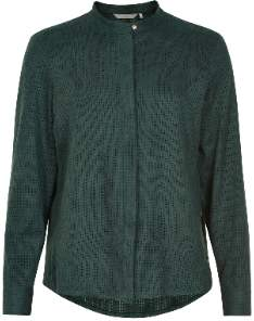 Nümph Numaybeth Dark Green Perforated Faux Suede Blouse - Dark Green   polyester   42