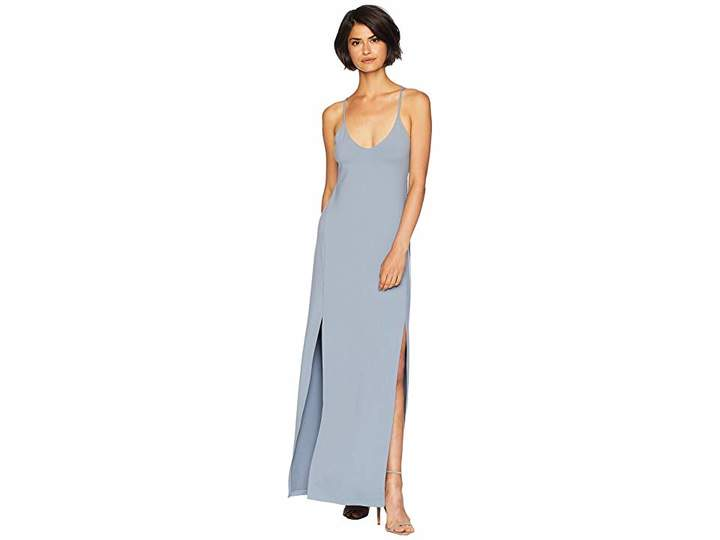 Susana Monaco Low V-Neck with Slit Dress