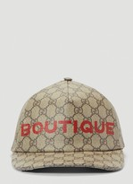 Gucci Boutique Print Baseball Cap