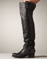 Christian Dior Over-the-Knee Biker Motorcycle Boot