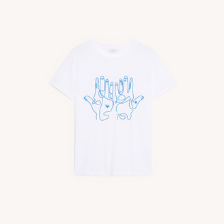 Sandro Cotton T-shirt with embroidery