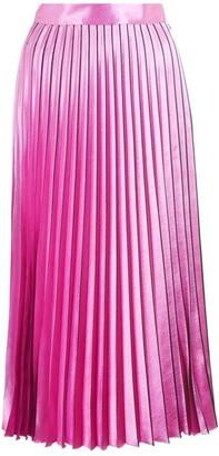 HUGO BOSS High-Shine Midi Skirt