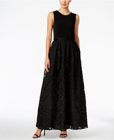 Calvin Klein Lace A-Line Gown