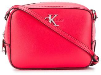 Calvin Klein Logo Zipped Cross-Body Bag
