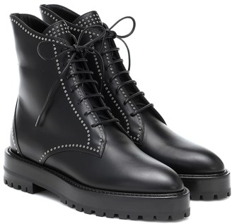 Alaia Lace-up leather ankle boots