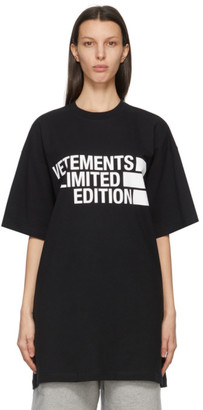 Vetements Black Limited Edition Logo T-Shirt