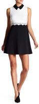 Jessica Simpson Beaded Trim Lace Bodice Dress