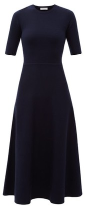Gabriela Hearst Seymore Wool-blend Midi Dress - Womens - Navy