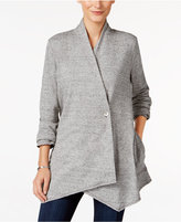 Style&Co. Style & Co. Petite Heathered Draped Cardigan, Only at Macy's