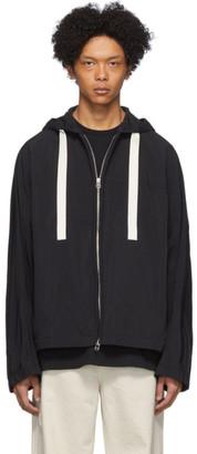 Oamc Black Nylon Corded Windbreaker Jacket