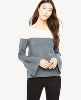 Ann Taylor Colorblock Bell Sleeve Sweater