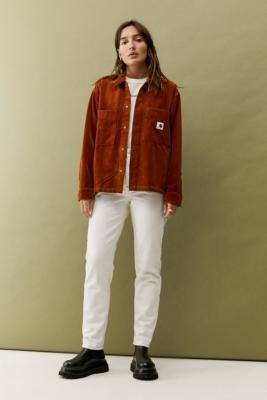 Carhartt WIP Corduroy Foya Shirt Jacket - Brown XS at Urban Outfitters