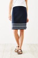 J. Jill Embroidered Knit A-Line Skirt