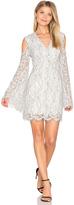 Keepsake Porcelain Long Sleeve Lace Dress