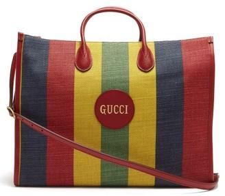 Gucci Baiadera-striped Canvas Tote Bag - Multi