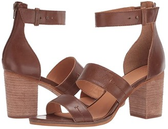 Frye Bryn Stitch Sandal (Gunmetal Metallic Full Grain) High Heels