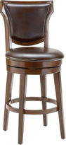 Asstd National Brand Country Heights Upholstered Swivel Barstool with Back