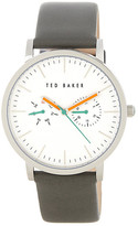 Ted Baker Men&s Round Multifunction Leather Strap Watch