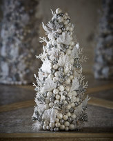 "Salzburg Creations White & Silver Fireworks 12"" Cone Tree"