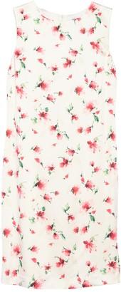 St. John Watercolor Rosebuds Silk Blend Dress