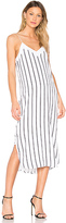 Equipment Dian Striped Dress in White