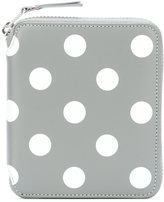 Comme des Garcons polka-dot zipped wallet - unisex - Leather - One Size