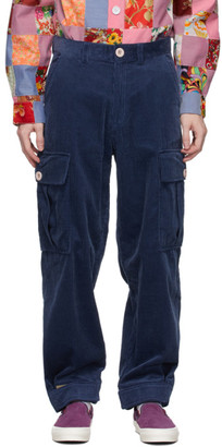 Landlord Navy Corduroy Cargo Pants