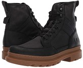 Frye Scout Boot (Black Suede/Waxy Canvas) Men's Lace-up Boots
