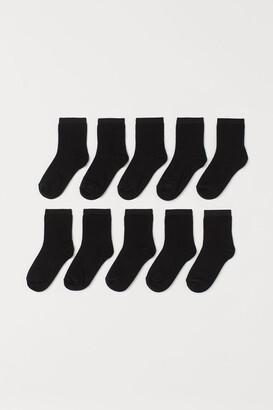 H&M 10-pack Socks - Black