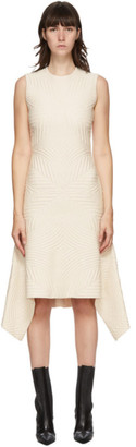 Alexander McQueen Off-White Quilted Knit Dress