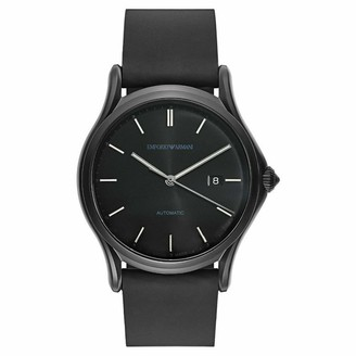 Emporio Armani Swiss Made Men's Swiss Quartz Stainless Steel and Black Leather Dress Watch (Model: ARS3015)