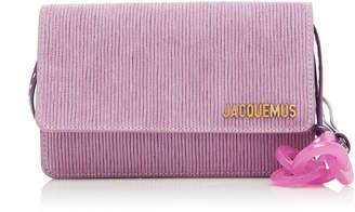 Jacquemus Le Riviera Velvet Leather Shoulder Bag