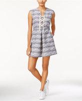 Rachel Roy Printed Lace-Up Dress