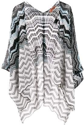 Missoni striped knit kimono