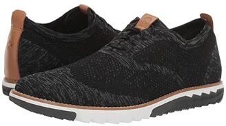 Hush Puppies Expert Wing Tip Knit (Black Multi Knit) Men's Shoes