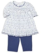 Kissy Kissy Baby's Petit Fleur Two-Piece Pima Cotton Dress & Leggings Set