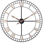 Sterling & Noble Open Works Wall Clock in Bronze/Gold