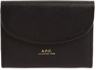 A.P.C. Geneve Saffiano Leather Wallet