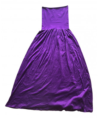 Eres Purple Cotton Dress for Women