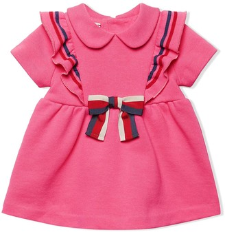 Gucci Kids Baby Cotton Dress With Bow